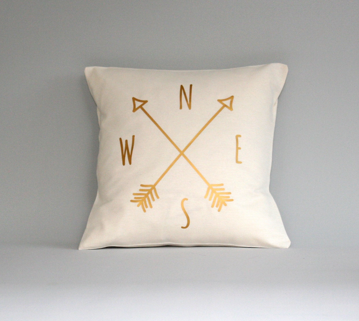 Compass Pillow cover gold pillow Compass cushion throw