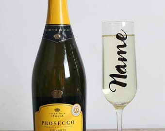 Personalised Gift / Champagne Flutes / Wedding Gift / Champagne Glasses / Toasting Flutes / Prosecco / Prosecco Glasses / Personalised Glass