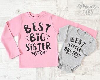 Big Sister Little Brother Shirts. Matching Sibling Shirts. Big Sister Shirt. Big Sister Gift. Sister Brother Silbing Set. Big Sis Lil Bro