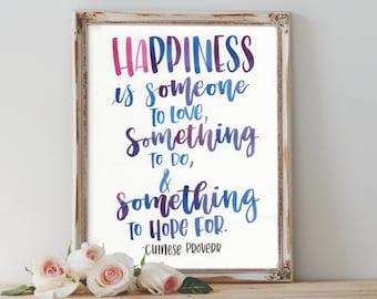 Happiness - Quote Art