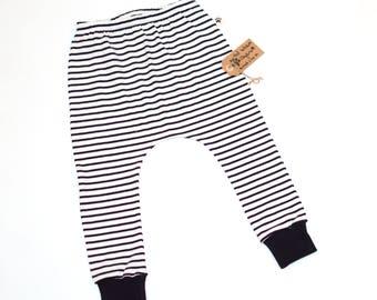 Organic Harem Pants: Baby Harem Pants, Toddler Harems, Organic Baby Clothes, Hipster Baby Clothes, Toddler Gift, Mono Harems, Cute Baby