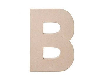 8 INCH Paper Mache Letter B - Cardboard Letters - Craft Supplies