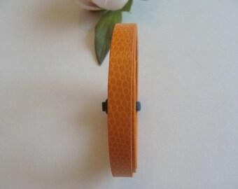 Leather lanyard strap orange belt 1 meter flat imitation snake pattern