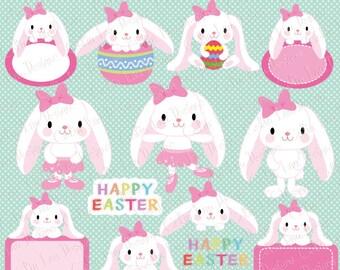 Easter clipart, Easter Bunny clipart, Floppy Ear Bunny clipart, Girl Bunny, Ballerina Bunny, Ballet Bunny (CG210)
