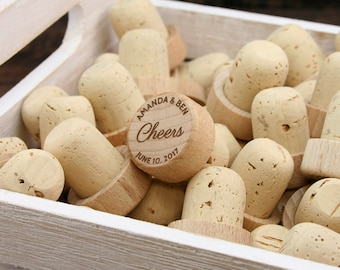 Personalized Wine Stoppers Bulk, Cheers Wine Stopper Wedding Favors, Engraved Wood Wine Stoppers, Customized Wine Cork, Wine Wedding Gift