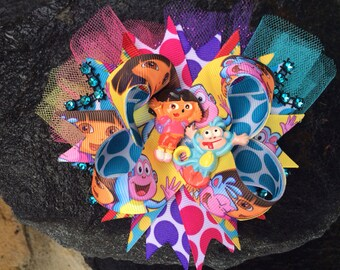Dora & Boots Boutique Resin Bling Hairbow