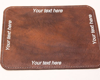 Travel Mouse Pad, Laptop Leather Mousepad, Travel Leather Mouse Mat, Handmade Desk Accessory, Mobile Office, Laptop Mouse Pad