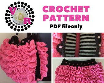 Ruffle Purse | Pink Purse | Crochet Pattern | Girls | Gift | Easy