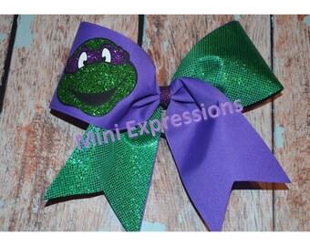 Ninja Turtle Cheer Bow you pick your color