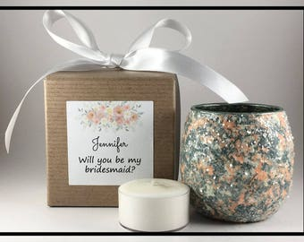 Bridesmaid Proposal Gift, Bridesmaid Gift Ideas, Wedding Party Gifts, Wedding Party Favors, Bridal Party Gifts For Bridesmaids, Tealight