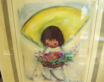 Artist Ettore Ted DeGrazia Flower Girl Southwest Decor Desert Arizona Native American Children Gallery In The Sun