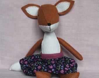 Marion Fox - Handmade Felt Fox - Stuffed Fox