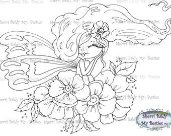 INSTANT DOWNLOAD Digital Digi Stamps Big Eye Big Head Dolls Digi Img438 Besties By Sherri Baldy