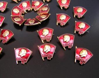 Soviet komsomol pin Communist pin Soviet propaganda Collectibles pins Lenin pin Soviet pins Soviet vintage pins