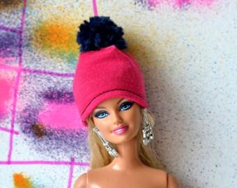 Hat (Stretch cotton) Barbie hat, doll hat, barbie handmade hat, barbie accessories, hat for doll