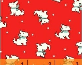 Storybook Christmas Red Scotties 41747-3 by Whistler Studios for Windham Fabrics