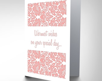 Card Wedding Celebration Warmest Special Day Gift CP3057