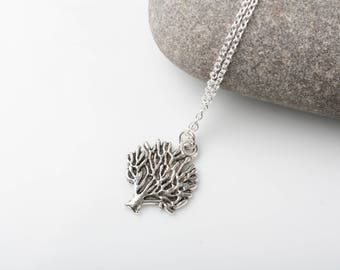Tree of life necklace, tree necklace, silver tree necklace, silver necklace, delicate necklace, tree of life jewelry, made in Canada