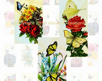 Butterflies Are Free 1x2 Inch...Domino...Digital Collage Sheet