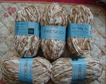 5 Balls Of 50g Sirdar Fresco Colour Brown Mix