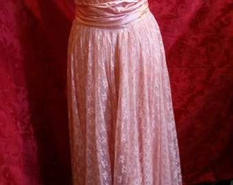 Peach dream gown 1950's party/prom dress