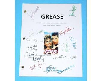 Grease 1978 Movie Script Autographed: John Travolta, Olivia Newton-John, Stockard Channing, Jeff Conaway, Jamie Donnelly, Didi Conn