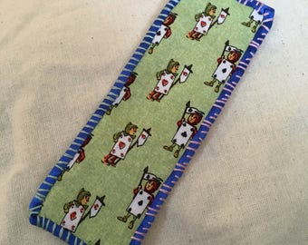 Nothing But A Pack of Cards Hand-Stitched Bookmark