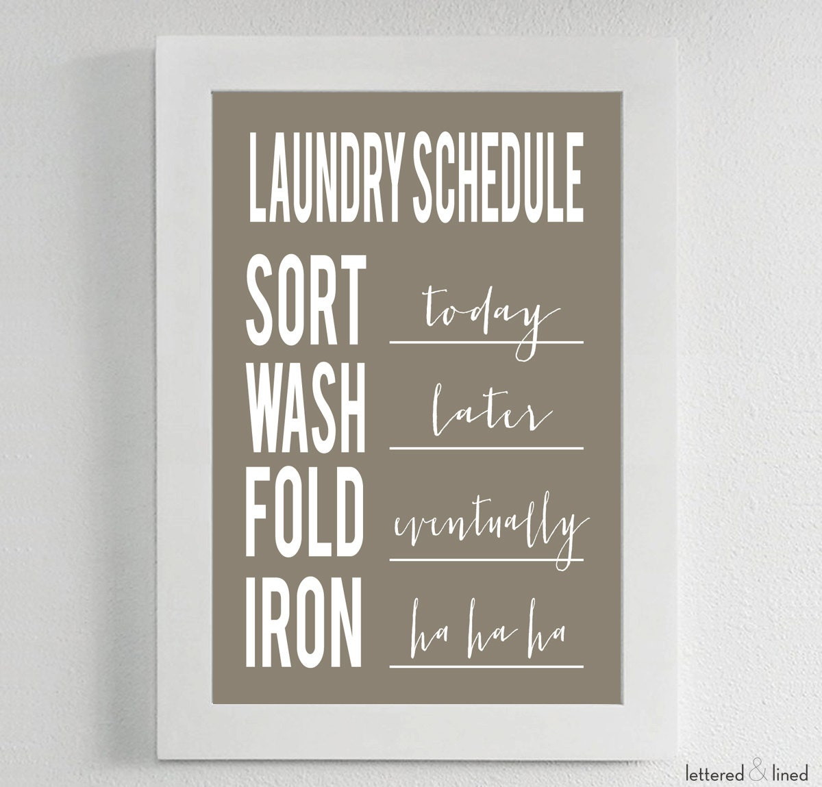 Laundry Symbols Poster Laundry Schedule Choose Background Color Sort Wash Fold