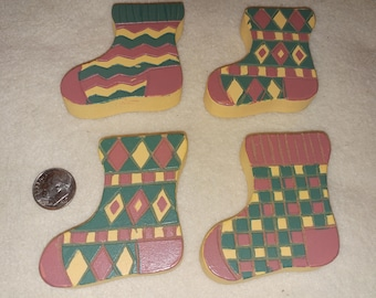 Little wooden Christmas stockings