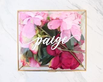 Personalized Glass Jewelry Box Personalized Jewelry Box / Bridesmaid Gift / Bridesmaid Robe box / Maid of Honor / jewelry storage/ Birthday