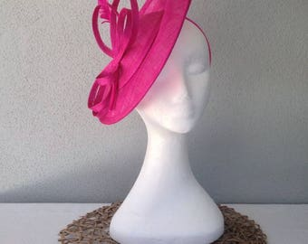 Ladies fuchsia pink headband fascinator
