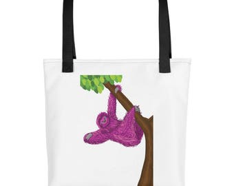 Pink  Sloth purse, carry on, diaper bag, Tote bag
