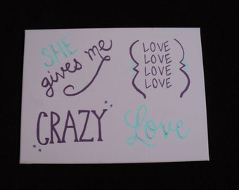 She Gives me LOVE Canvas 12x16
