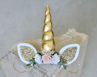 Unicorn headband, unicorn birthday, newborn unicorn, baby unicorn headband, adult unicorn headband, unicorn first birthday headband, flower