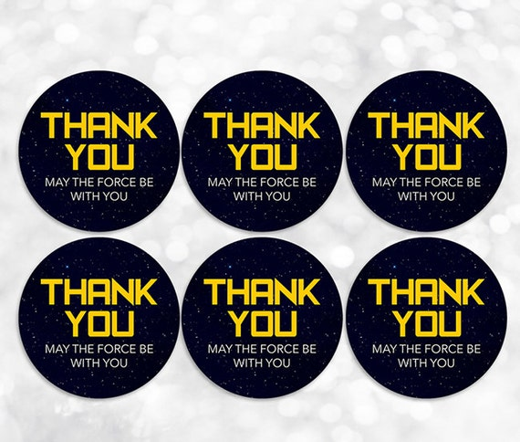 star wars printable thank you tags stickers labels
