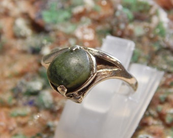 Native American Sterling Green Turquoise Ring