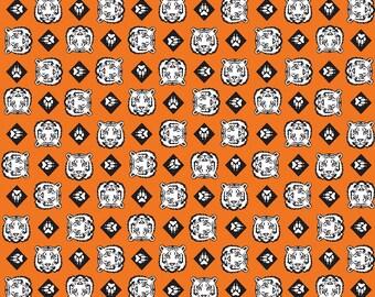 SALE Cub Scouts Tiger Orange - Riley Blake Designs - Boy Scouts Paws - Quilting Cotton Fabric - choose your cut