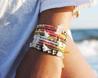 Colorful Seed Bead Friendship Bracelets, Stacking Bracelets, Friendship Bracelets, Seed Bead Bracelet, Tassel Bracelet, Colorful Bracelet
