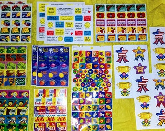 Collection of mixed reward stickers