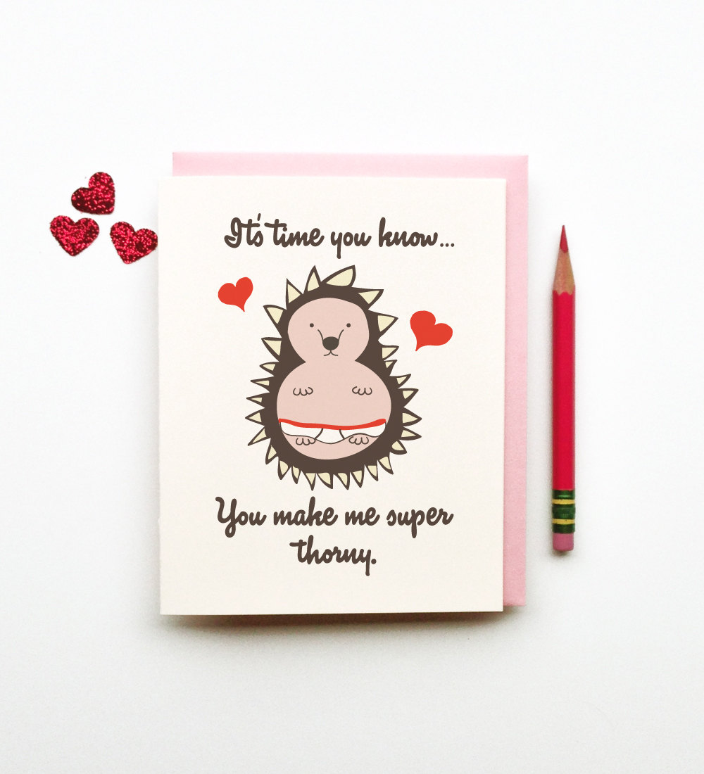 Horny Quotes Pictures: You Make Me Super Thorny Funny Horny Porcupine Hedgehog In