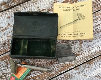 Rare Keen Kutter Safety Razor with Blades and Strop
