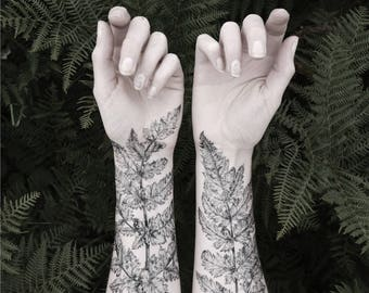Fern & Crystal Temporary Tattoo Kit - NATURE GIRL From the Forest
