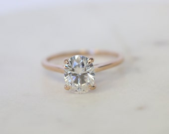Solitaire Engagement Ring, Moissanite Solitaire, Moissanit Engagement Ring, Rose Gold Solitaire Ring, Moissanite Rose Gold