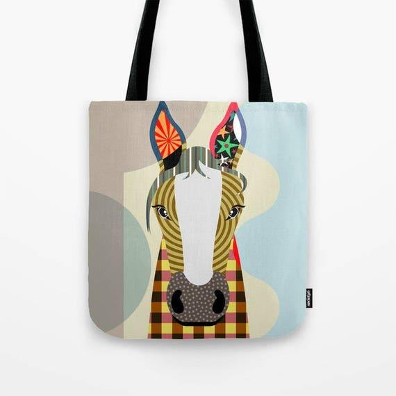 Horse Tote Bag, Animal Tote Decorative Horse Bag, Horse Lovers Gift Tote Bag, Animal Lovers Gift