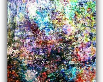 Art print texture/nature inspired abstract/scrapbooking material/journaling supplies