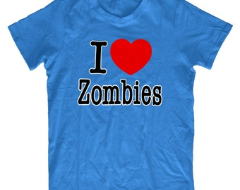 I Love Zombies H38 T-Shirt - Mens Funny T shirt Humorous Birthday Gift Comedy Quality, Zombie Fan