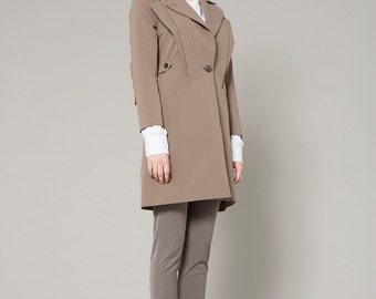 Trench Coat with Contrast Details