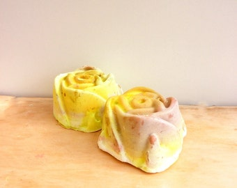 Mature Skin Flower Soap // Natural Olive Soap // Antioxidant Soap //Acne Soap // Moisturizing Mature Skin Soap //Antiseptic Soap