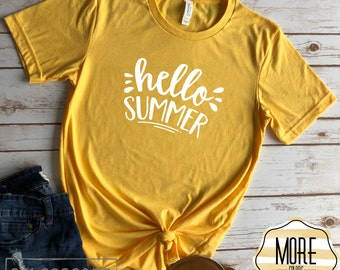 Hello Summer, Summer Shirt, Teacher Shirt, Womens Summer Shirts, Hello Summer Shirt, Womens Summer Tshirt, Teacher Shirts, Summer Tshirt