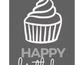 Birthday Cupcake Greeting Card Flat Card